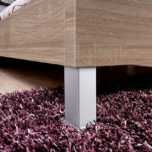 Bed leg frosted aluminium